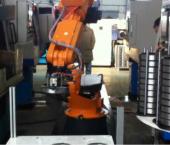 轴承外圈上下料应用视频-广数机器人